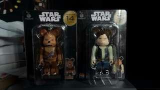 Bearbrick Star Wars 星戰 韓索羅 Han Solo 1對 全新正品