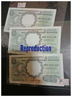 Reproduction Malaya British Borneo One Dollar