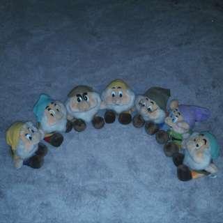 Disney  Seven Dwarfs Stuff Toys