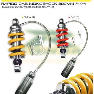 RAPIDO Gas Monoshock  for RS150Fi & Y15ZR
