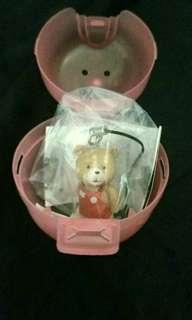 日本正版熊麻吉Ted扭蛋 耳機防塵塞/吊飾