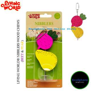 LIVING WORLD® Nibblers Wood Chews (Beet & Pear)
