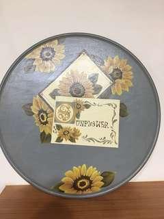 🚚 (手繪)太陽花木器彩繪壁飾擺飾品/裝飾品/藝術品