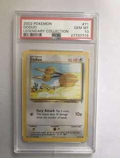 PSA 10 GEM MT Doduo Pokémon Legendary Collection 2002