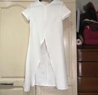 Apartment 8 Clothing Long-back Blouse (White)