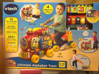 VTech Sit-to-Stand Ultimate Alphabet Train ride on / walker / pull cart / blocks