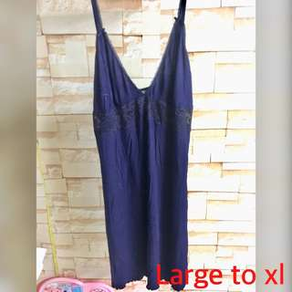 Dress navy blue large to xl