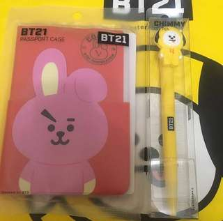 Bt21 chimmy pen cooky passport 套