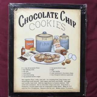 Retro Chocolate Chips Cookies  Retro Wall Decor