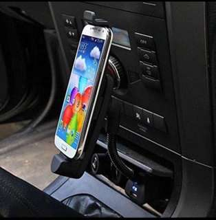 2in1 car charger with cp stand