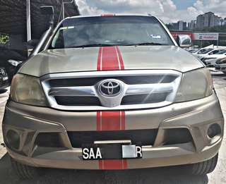 SAMBUNG BAYAR / CONTINUE LOAN   TOYOTA HILUX 2.5 AUTO YEAR 2007 MONTHLY RM 1060 BALANCE 4 YEARS + ROADTAX VALID  DP KLIK wasap.my/60133524312/hilux