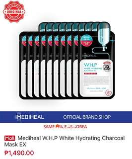 RUSH Mediheal W.H.P White Hydrating Charcoal Mask Ex (10 pcs)