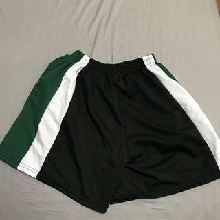 運動褲 復古 墨綠