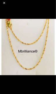 916 Gold Necklace twisted