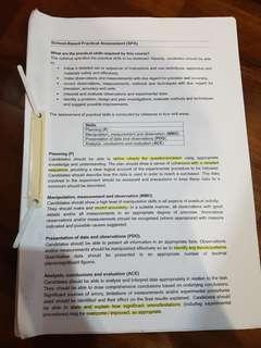 H2 chem SPA lab notes