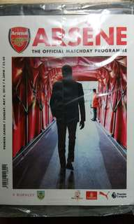 Arsenal v Burnley Matchday Programme