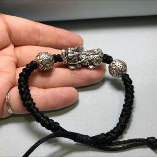 S925銀貔貅男裝手繩