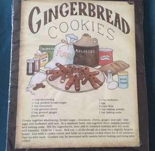 Gingerbread cookies Retro Wall Decor
