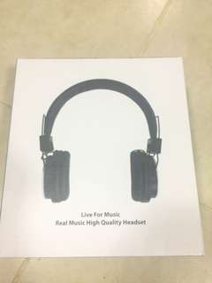 LIVE FOR MUSIC REAL MUSIC HIGH QUALITY HEADSET