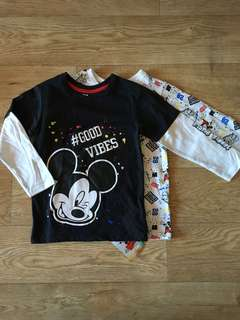 [readystock] Primark x Mickey boys LS tshirt (24-36m)