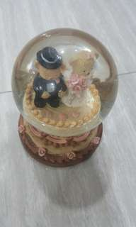 Couple Teddy Bear Water Globe