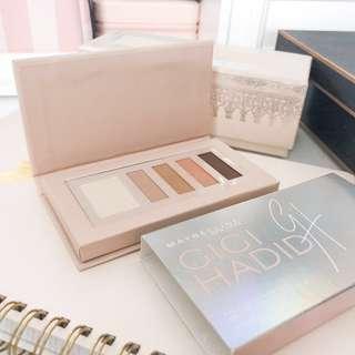 💚 Maybelline gigi hadid eye contour palette • eyeshadow gg01 warm chaud • limited edition almost new with cute box