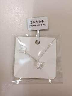 蝴蝶飛舞925純銀鎖骨頸鏈