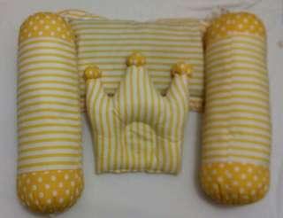 bantal guling bayi salur kuning