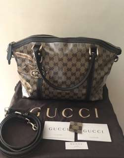 Gucci tote vernis authentic sling bag