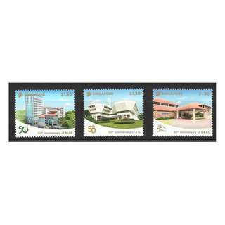 SINGAPORE 2018 50TH ANNIVERSARIES ISEAS JTC MUIS (ARCHITECTURES) COMP. SET OF 3 STAMPS IN MINT UNUSED CONDITION
