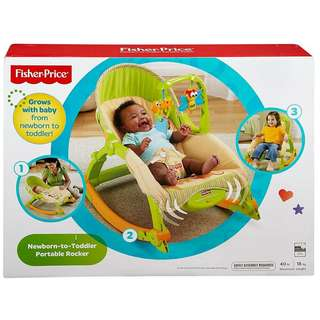 BNIB: Fisher Price Newborn-to-Toddler Portable Rocker - Baby Chair - Rocking Chair - Bouncer