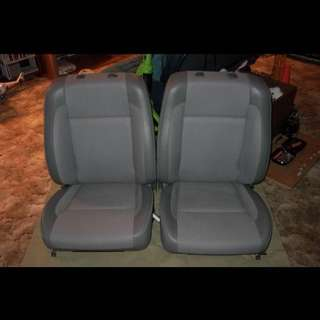 Van seat full leather
