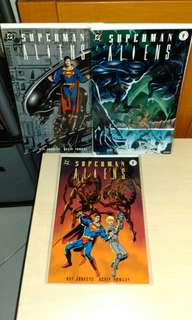 DC Dark Horse 1995 Superman Aliens 3 Issues set.