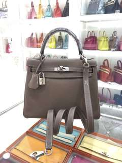 Hermes Kelly 25 大象灰 Etoupe 稀有小極品