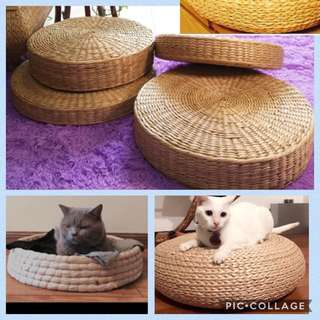 (New!) straw zen stool bed scratch house