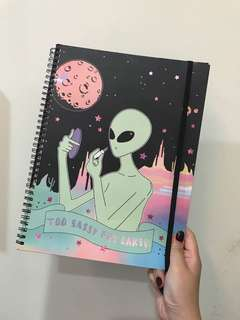 BN 'Too Sassy For Earth' Typo A4 Notebook