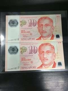 LHL $10 0AA UNC