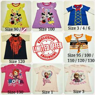 SPECIAL PROMOTION! Assorted Designs Kids' T-shirts