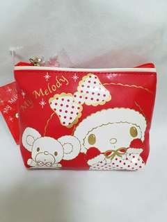 My Melody Red Noel Tissue Pouch