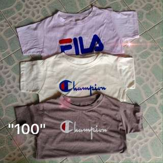 Bnew Champion and Fila Shirts