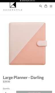 BNIP Kaiserstyle Large Darling Planner (Pink)