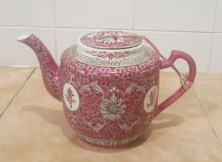 antique oriental teapot