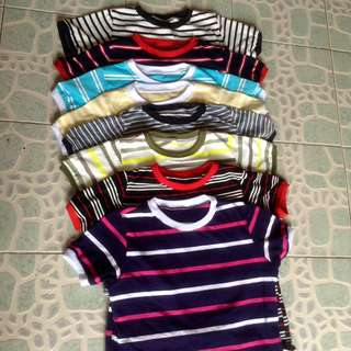 H&M Inspired Basic Stripes Ringer Tees