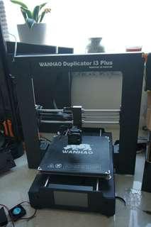 Wanhao duplicator i3+ 3D printer, prusa i3