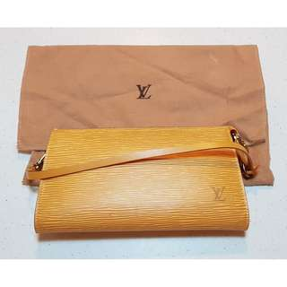 100% Authentic LOUIS VUITTON YELLOW EPI POCHETTE