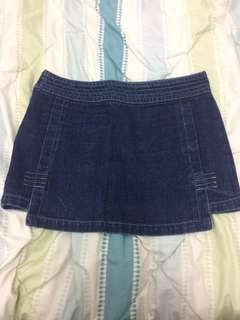Branded maong mini skirts