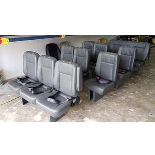 nissan urvan toyota hiace new van seat for pu X12 siap pasang in post malaysia RM5000