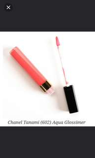 Chanel 602 Aqua Lipgloss (FREE Chanel hydra beauty micro serum 5ml)