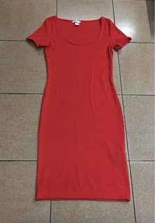 H&M Long red dress