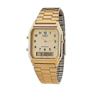 Casio Digital Analog Watch Gold - 80's Model